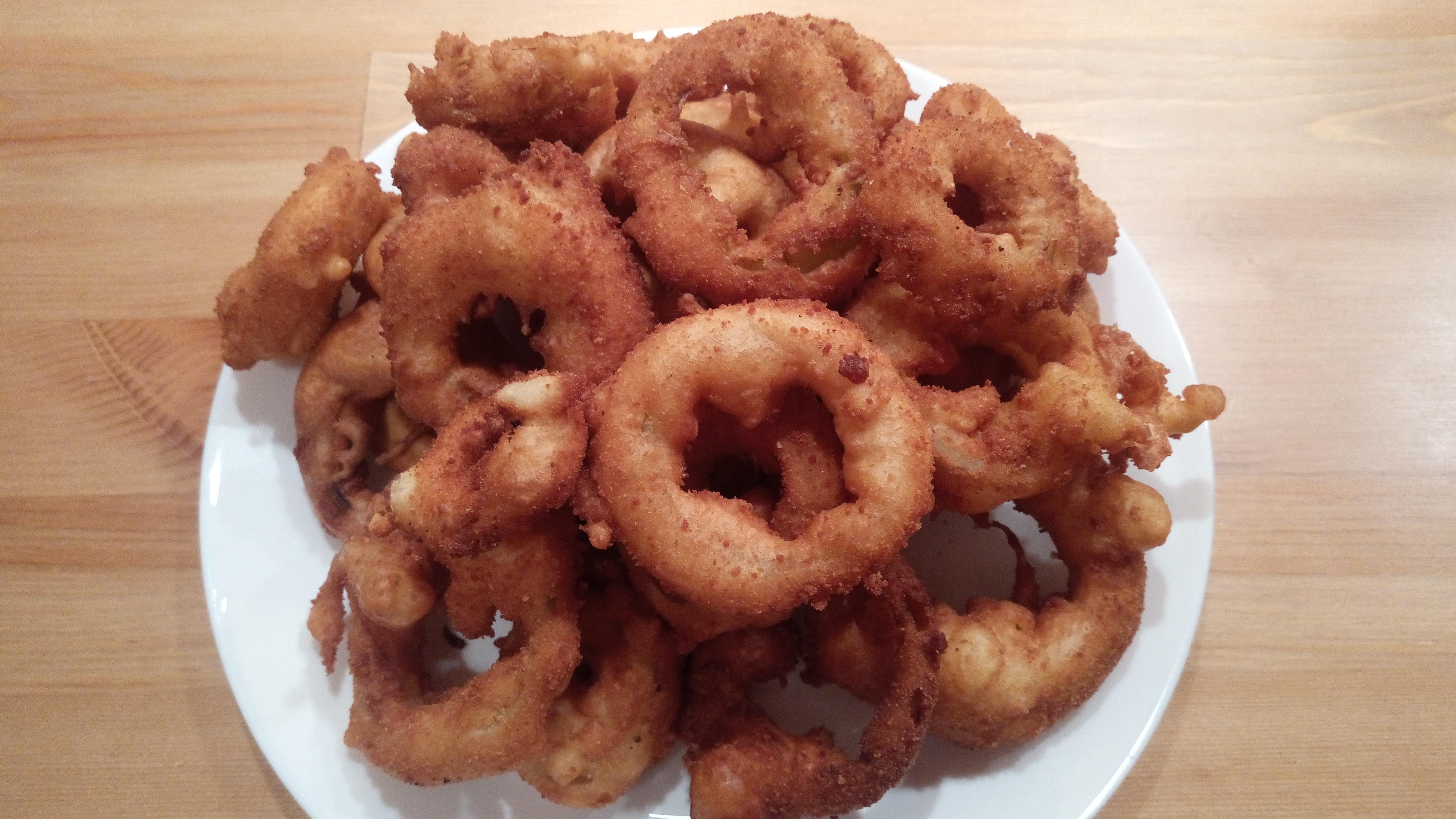 krązki cebulowe - onion rings